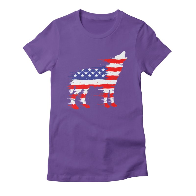 American Wolf Women's Fitted T-Shirt by barmalisiRTB