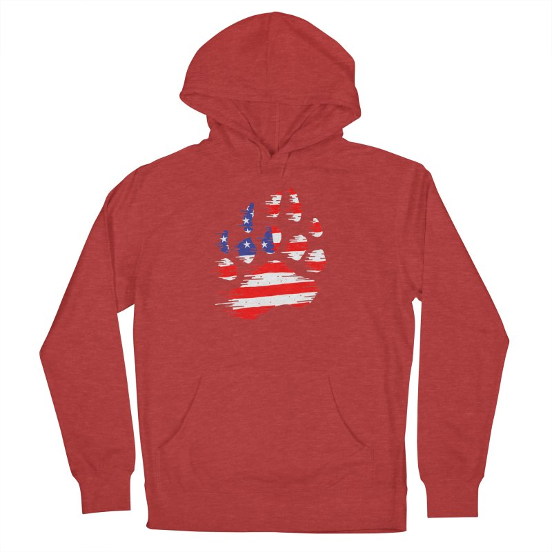 American Bear Paw Men's French Terry Pullover Hoody by barmalisiRTB