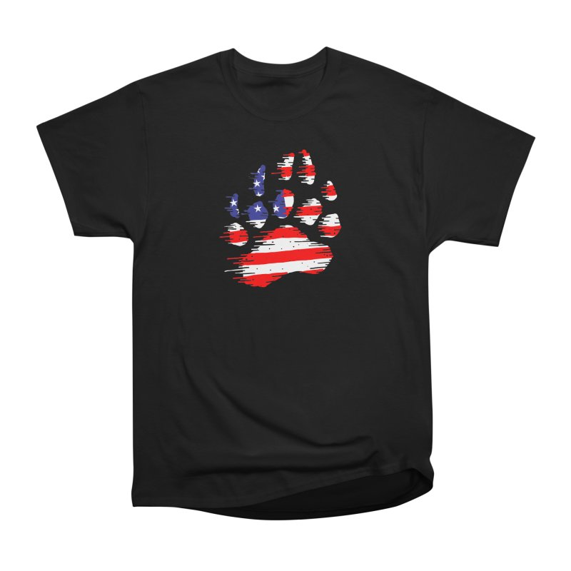 American Bear Paw Men's Heavyweight T-Shirt by barmalisiRTB
