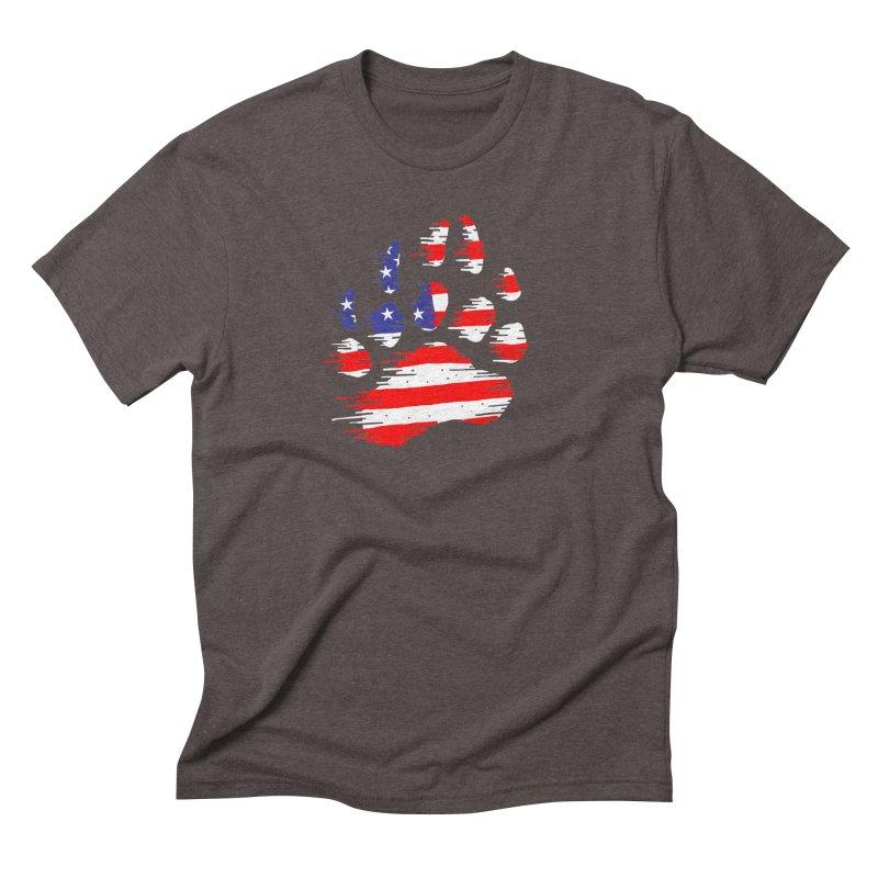 American Bear Paw Men's Triblend T-Shirt by barmalisiRTB