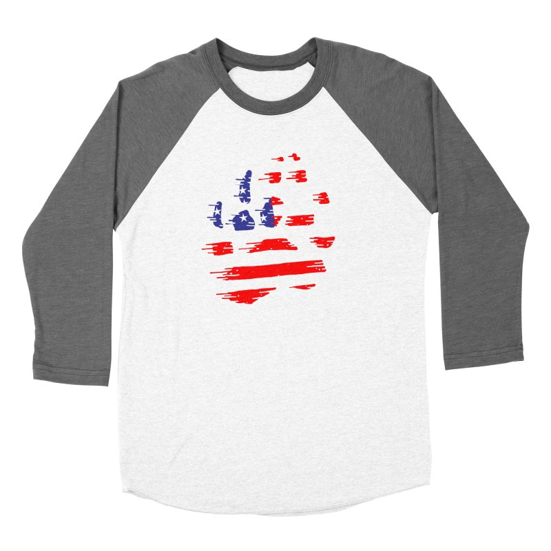 American Bear Paw Men's Baseball Triblend Longsleeve T-Shirt by barmalisiRTB