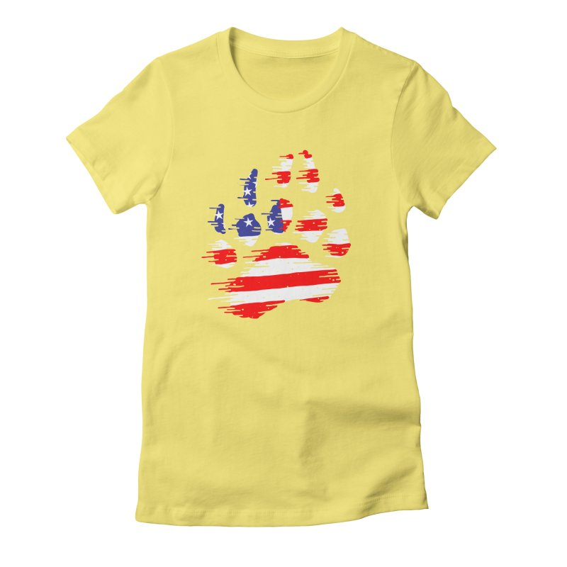 American Bear Paw Women's Fitted T-Shirt by barmalisiRTB