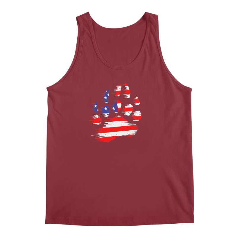 American Bear Paw Men's Regular Tank by barmalisiRTB