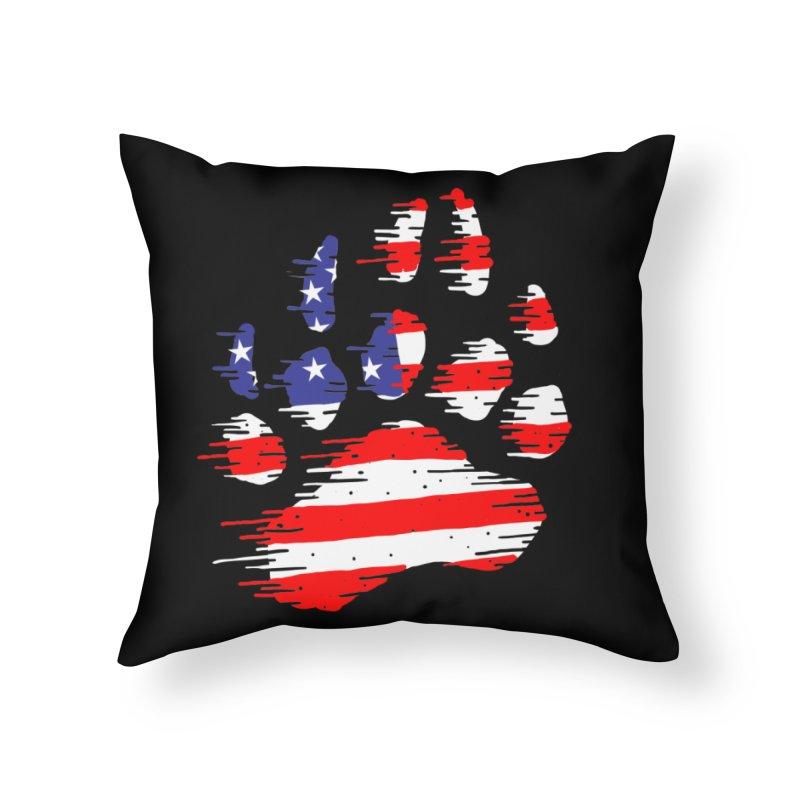 American Bear Paw Home Throw Pillow by barmalisiRTB