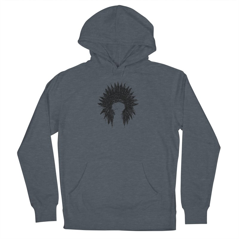 Native American chief Men's French Terry Pullover Hoody by barmalisiRTB