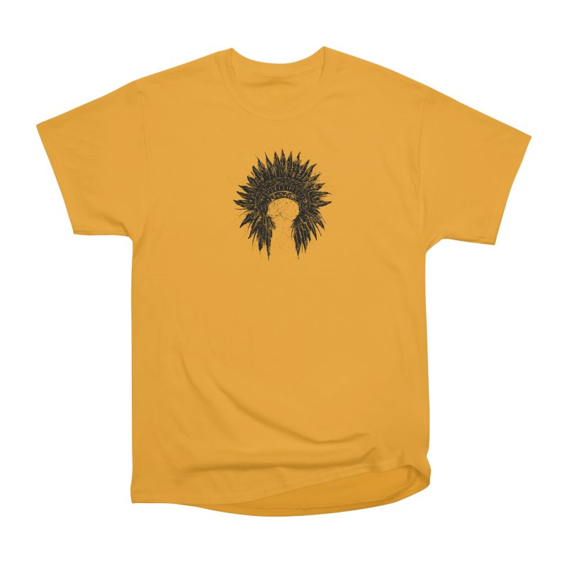 Native American chief Women's Heavyweight Unisex T-Shirt by barmalisiRTB