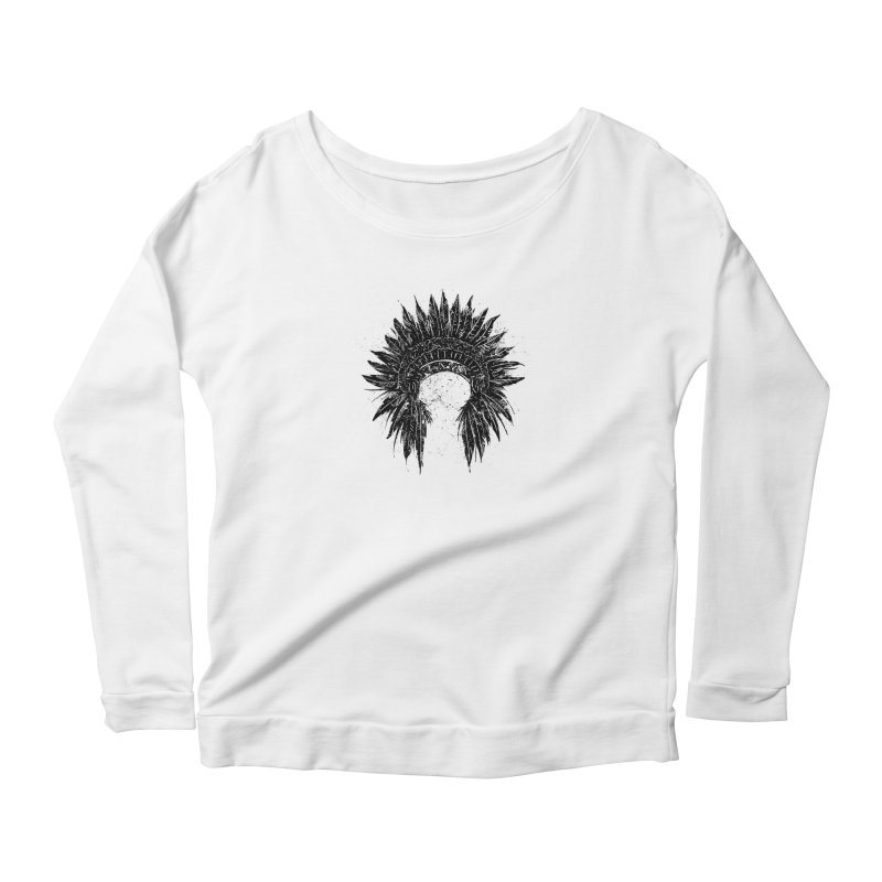 Native American chief Women's Scoop Neck Longsleeve T-Shirt by barmalisiRTB