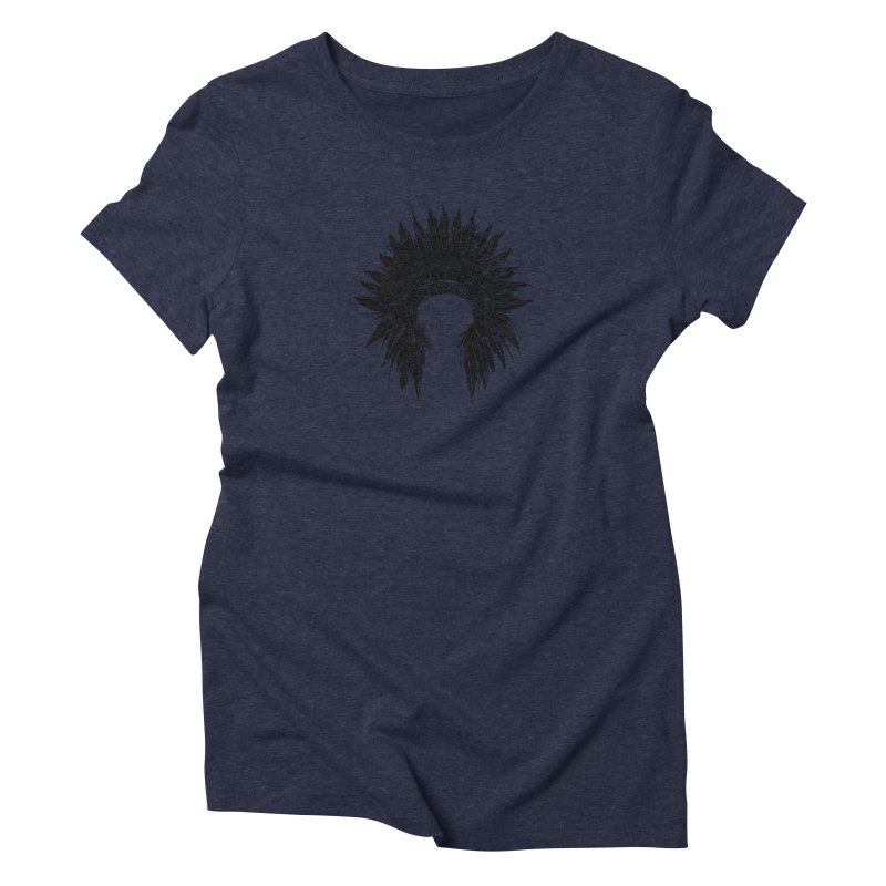 Native American chief Women's Triblend T-Shirt by barmalisiRTB