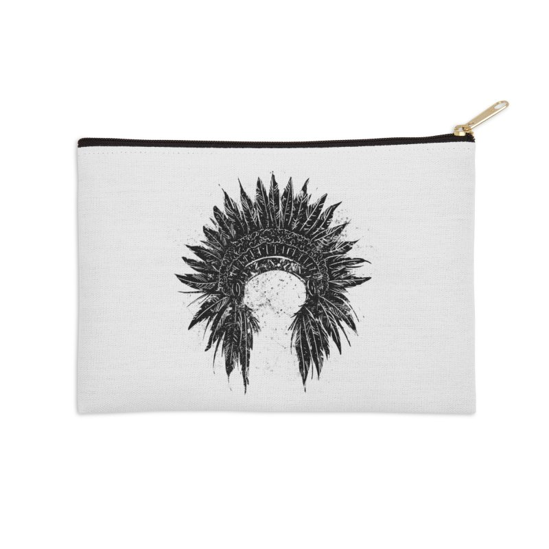 Native American chief Accessories Zip Pouch by barmalisiRTB