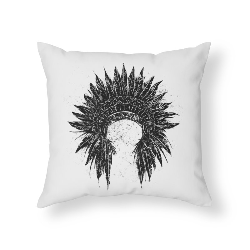 Native American chief Home Throw Pillow by barmalisiRTB