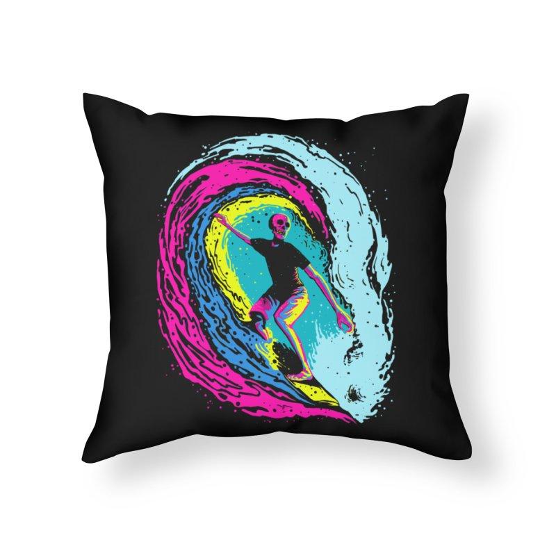 Enjoy Surfing Home Throw Pillow by barmalisiRTB