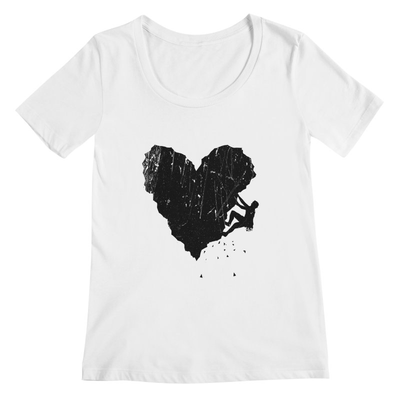 Peak of love Women's Regular Scoop Neck by barmalisiRTB