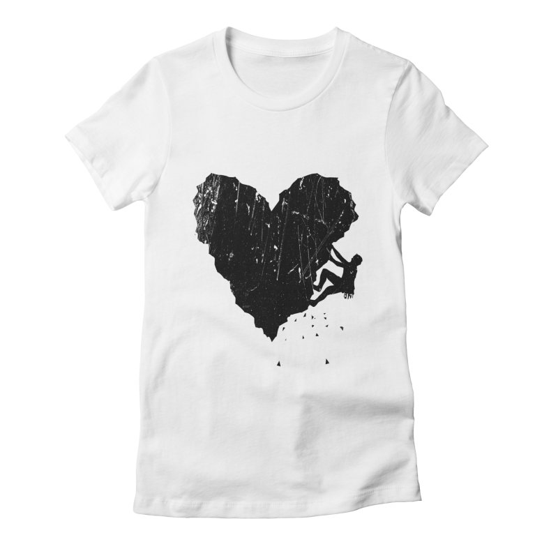 Peak of love Women's Fitted T-Shirt by barmalisiRTB