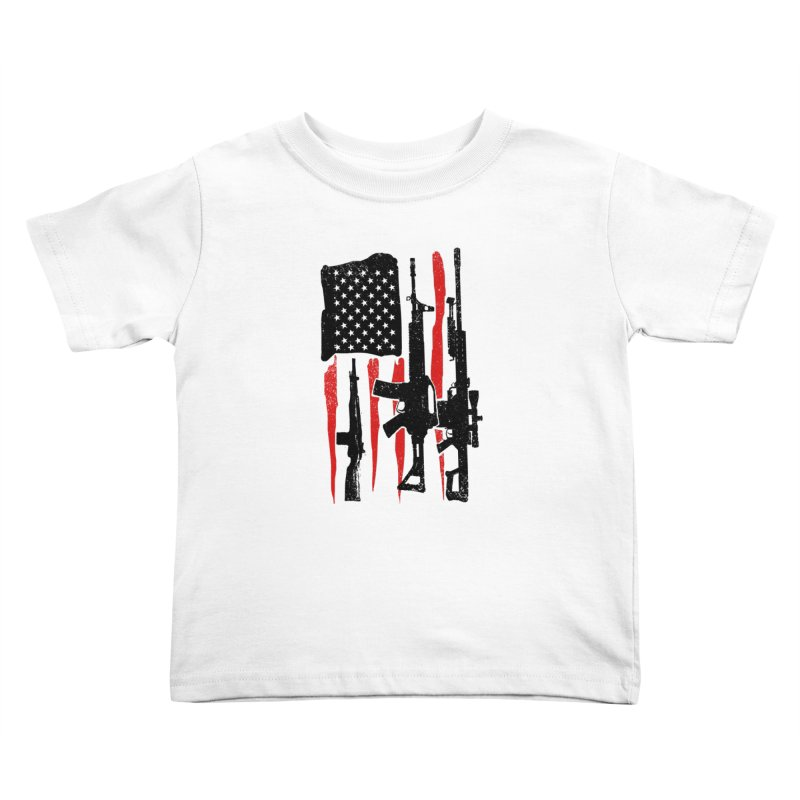 American Hero Flag Kids Toddler T-Shirt by barmalisiRTB