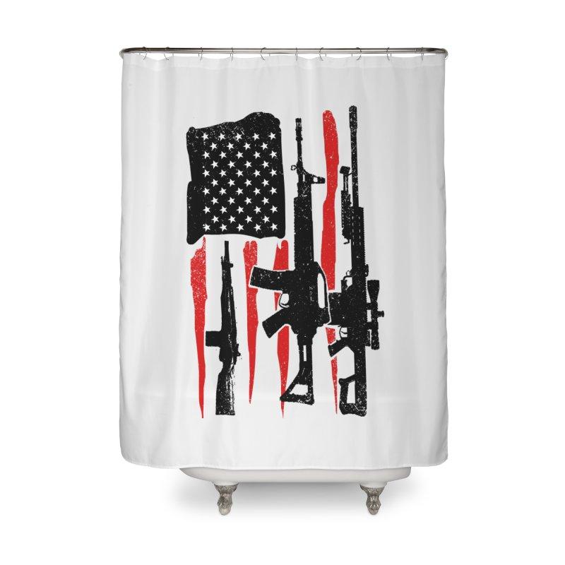 American Hero Flag Home Shower Curtain by barmalisiRTB