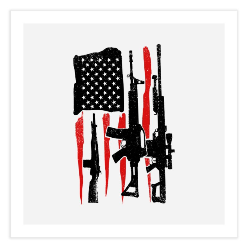 American Hero Flag Home Fine Art Print by barmalisiRTB