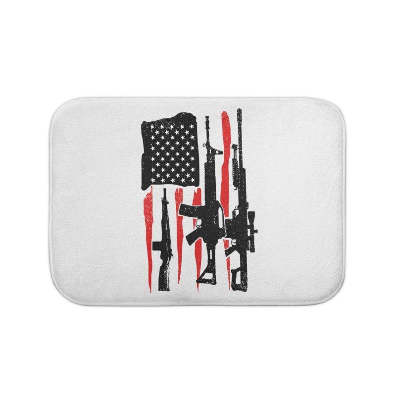 American Hero Flag Home Bath Mat by barmalisiRTB