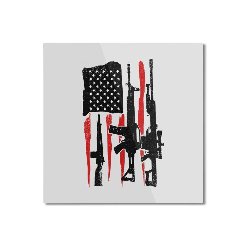 American Hero Flag Home Mounted Aluminum Print by barmalisiRTB