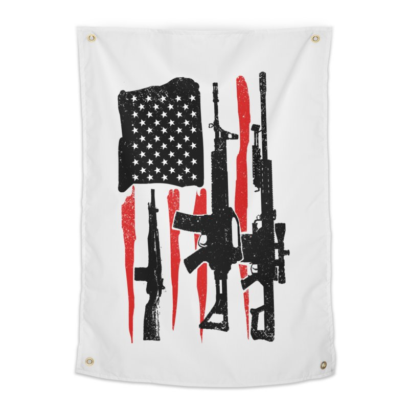 American Hero Flag Home Tapestry by barmalisiRTB