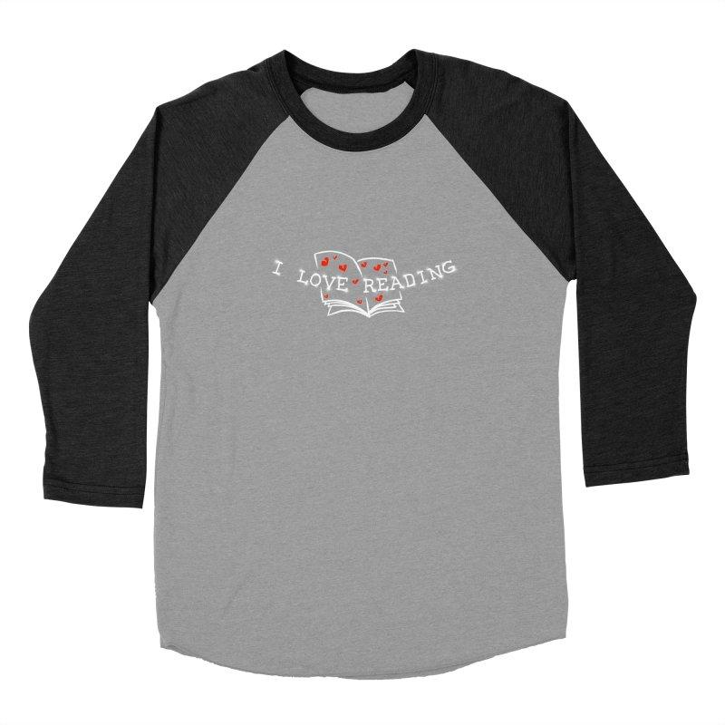 I Love Reading Men's Baseball Triblend Longsleeve T-Shirt by barmalisiRTB
