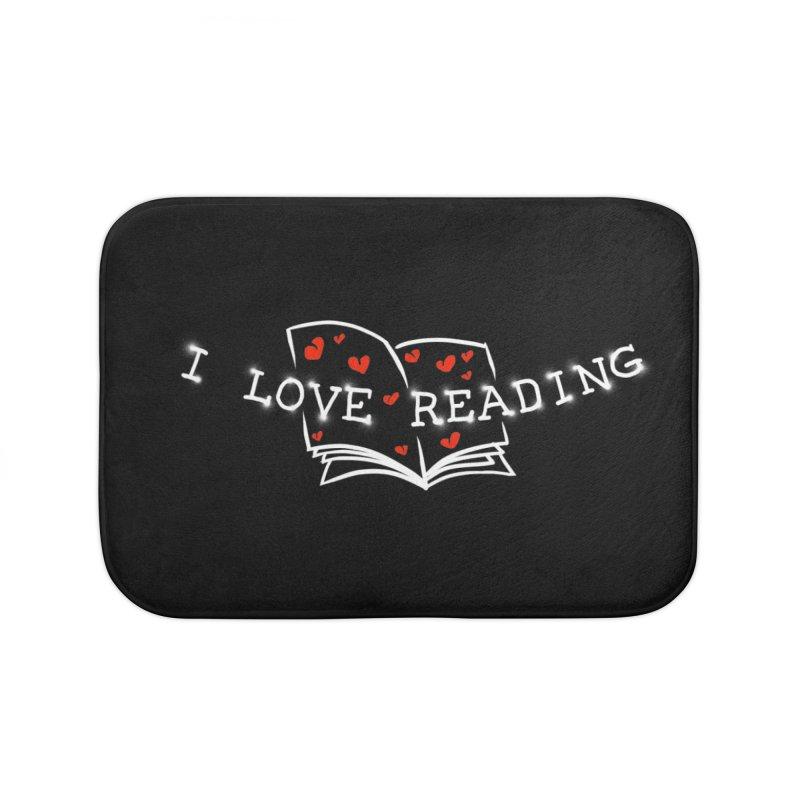 I Love Reading Home Bath Mat by barmalisiRTB