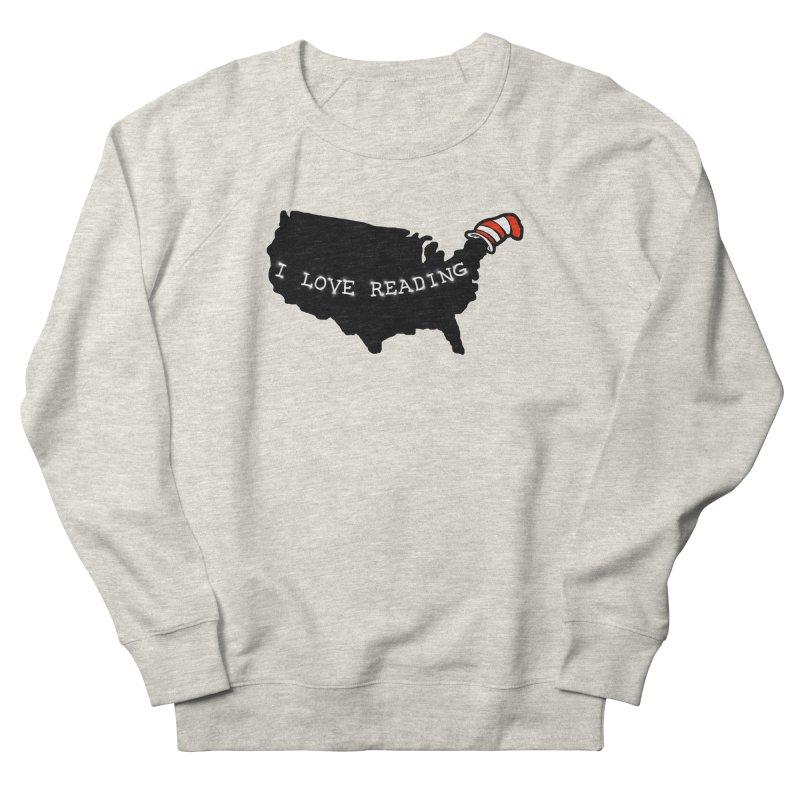 I Love Reading America Women's French Terry Sweatshirt by barmalisiRTB