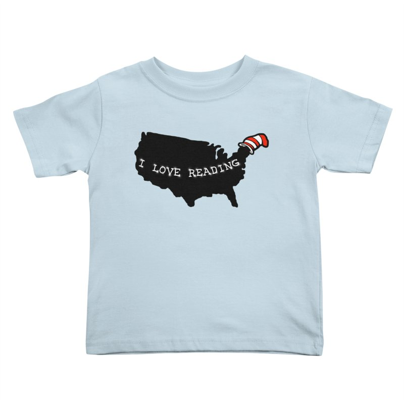 I Love Reading America Kids Toddler T-Shirt by barmalisiRTB