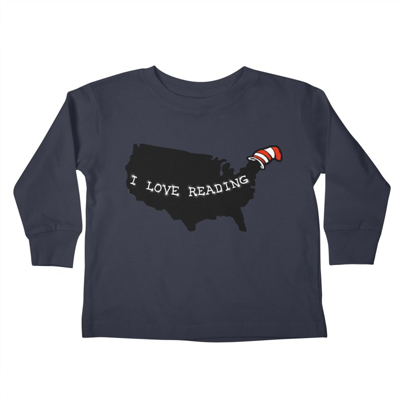 I Love Reading America Kids Toddler Longsleeve T-Shirt by barmalisiRTB
