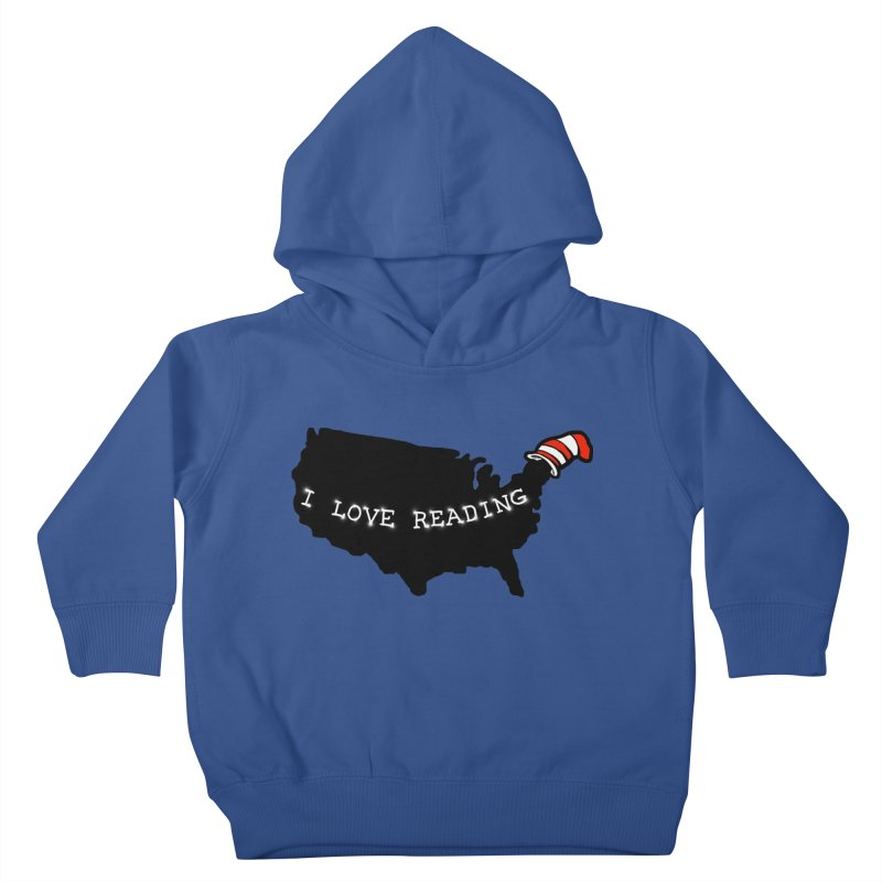 I Love Reading America Kids Toddler Pullover Hoody by barmalisiRTB