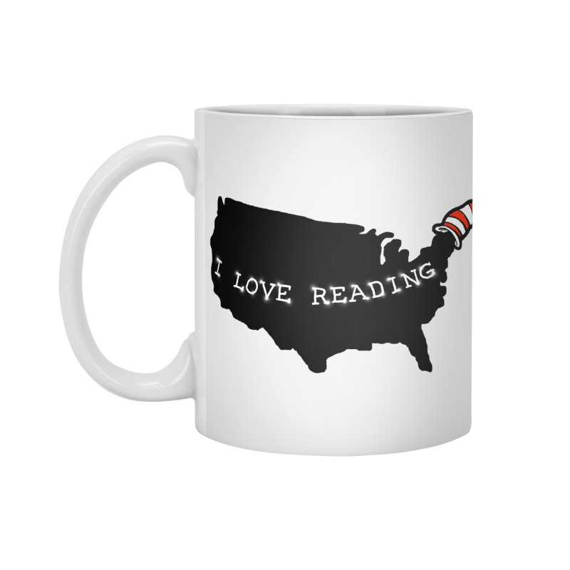 I Love Reading America Accessories Mug by barmalisiRTB