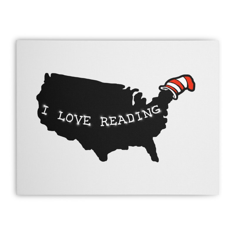 I Love Reading America Home Stretched Canvas by barmalisiRTB