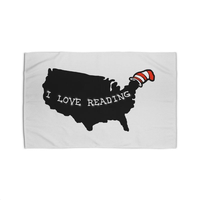 I Love Reading America Home Rug by barmalisiRTB