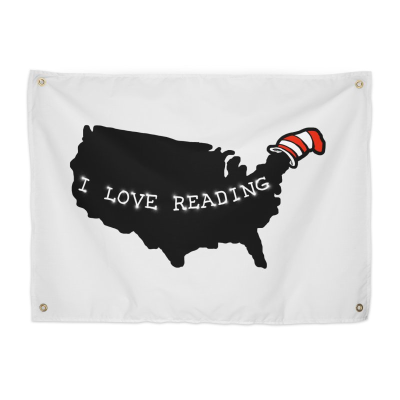 I Love Reading America Home Tapestry by barmalisiRTB