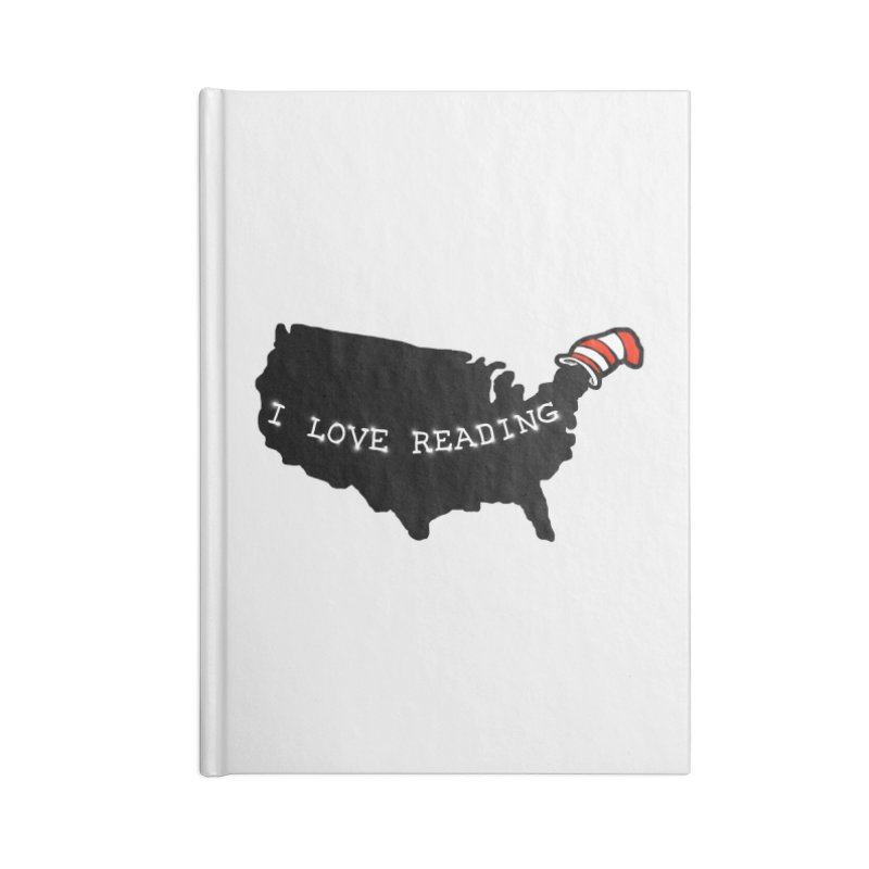I Love Reading America Accessories Notebook by barmalisiRTB