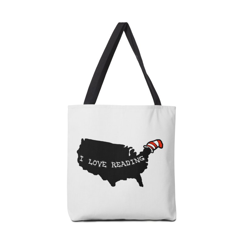 I Love Reading America Accessories Bag by barmalisiRTB