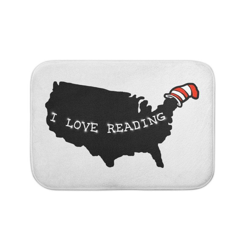 I Love Reading America Home Bath Mat by barmalisiRTB