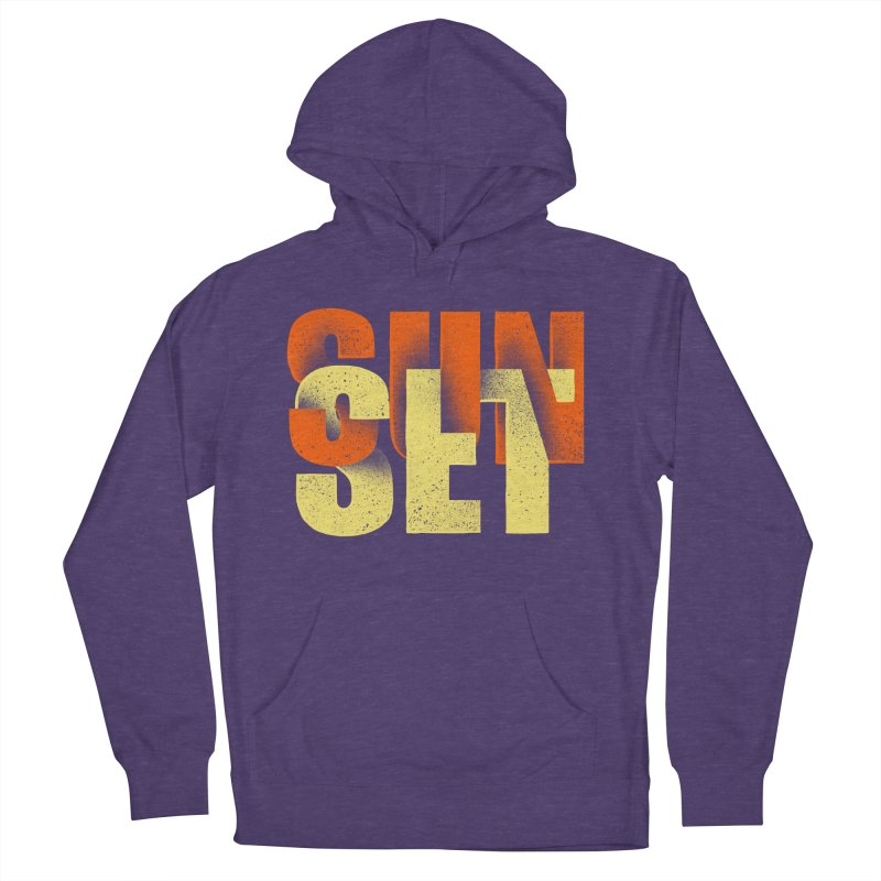 Sunset time Men's French Terry Pullover Hoody by barmalisiRTB