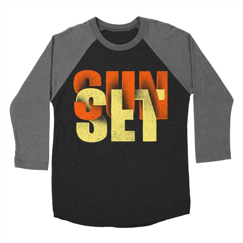Sunset time Men's Baseball Triblend Longsleeve T-Shirt by barmalisiRTB