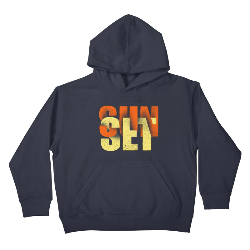 Sunset time Kids Pullover Hoody by barmalisiRTB