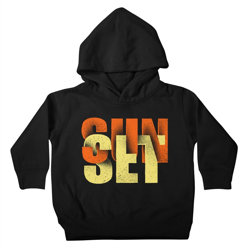 Sunset time Kids Toddler Pullover Hoody by barmalisiRTB