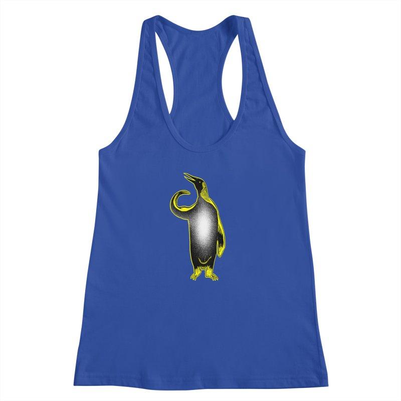 Penguin power Women's Racerback Tank by barmalisiRTB