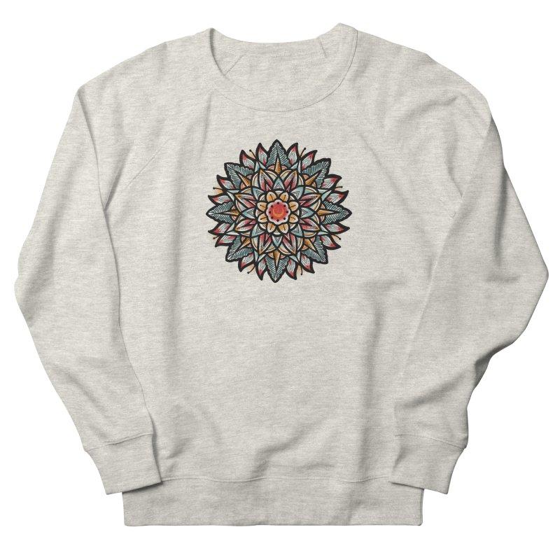Night flower Women's French Terry Sweatshirt by barmalisiRTB