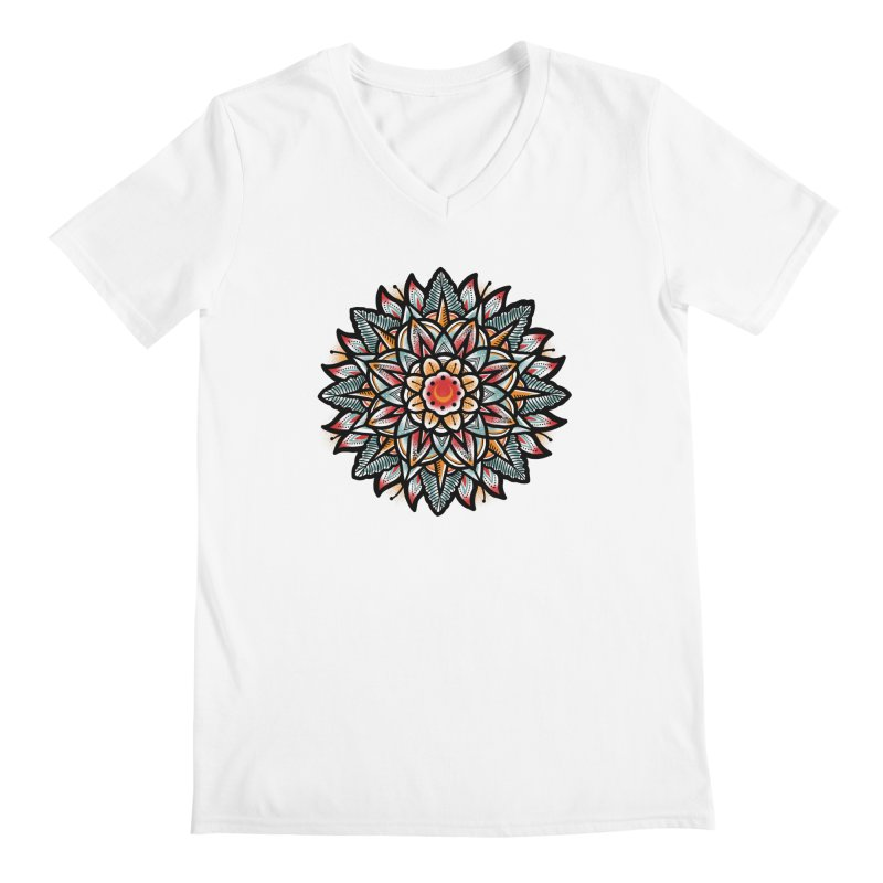 Night flower Men's Regular V-Neck by barmalisiRTB