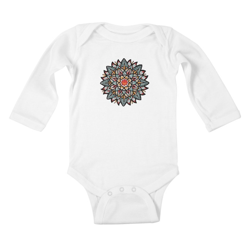 Night flower Kids Baby Longsleeve Bodysuit by barmalisiRTB