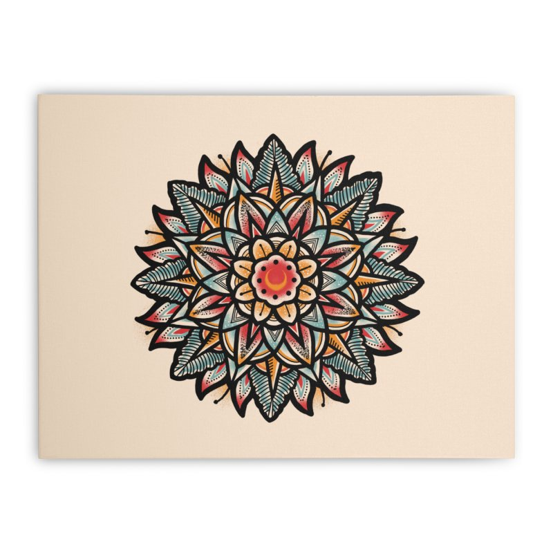 Night flower Home Stretched Canvas by barmalisiRTB