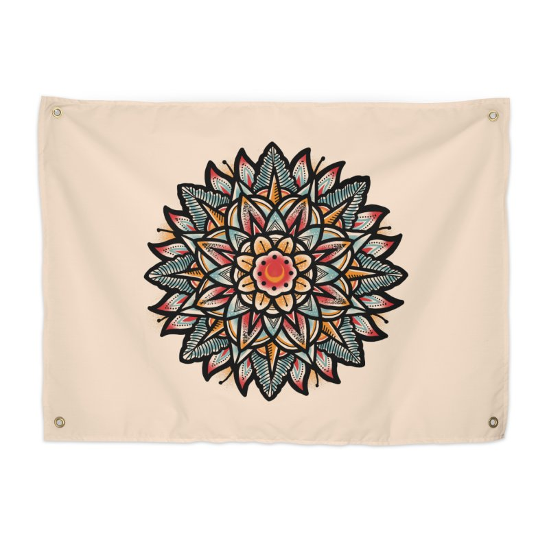 Night flower Home Tapestry by barmalisiRTB