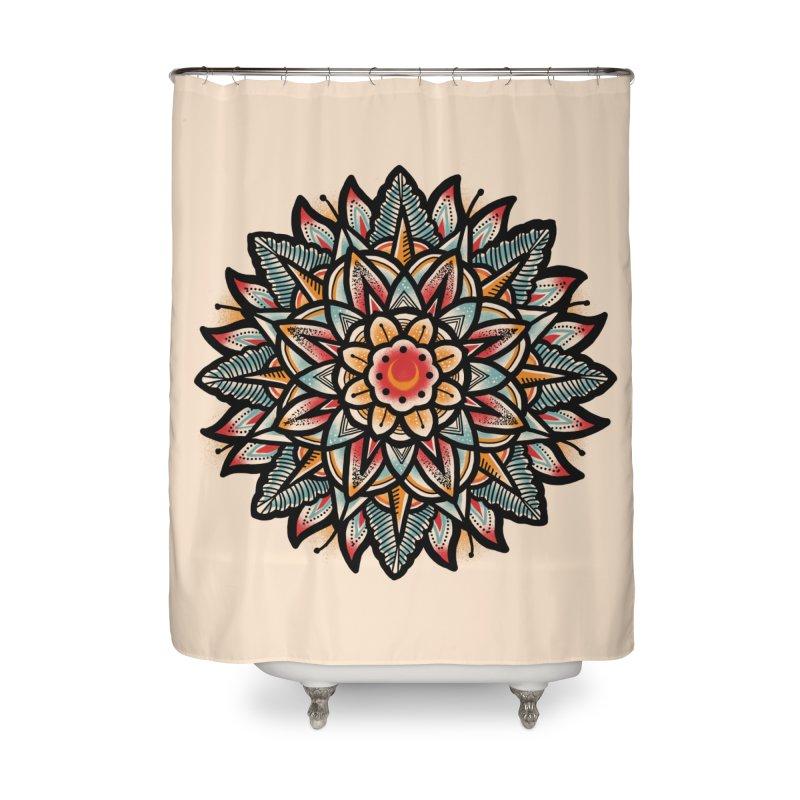 Night flower Home Shower Curtain by barmalisiRTB