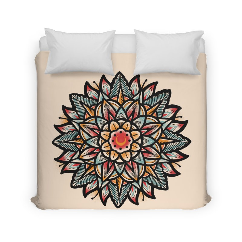 Night flower Home Duvet by barmalisiRTB