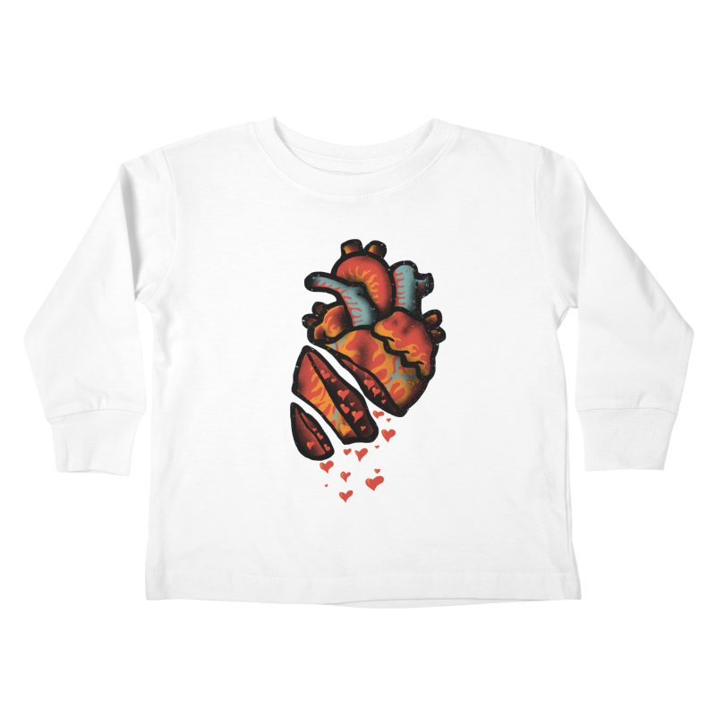 Fall in love Kids Toddler Longsleeve T-Shirt by barmalisiRTB