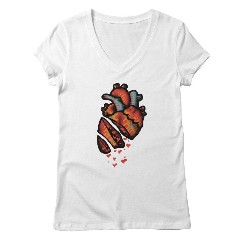 Fall in love Women's Regular V-Neck by barmalisiRTB
